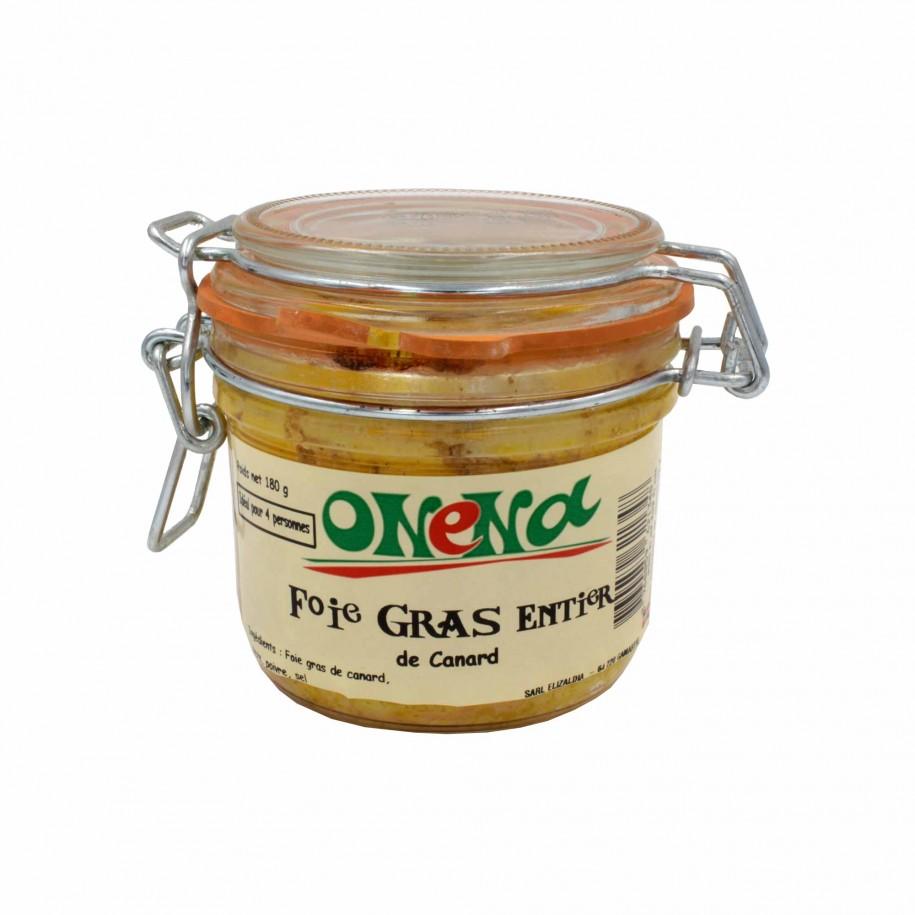 Foie gras de canard entier des Landes 180g