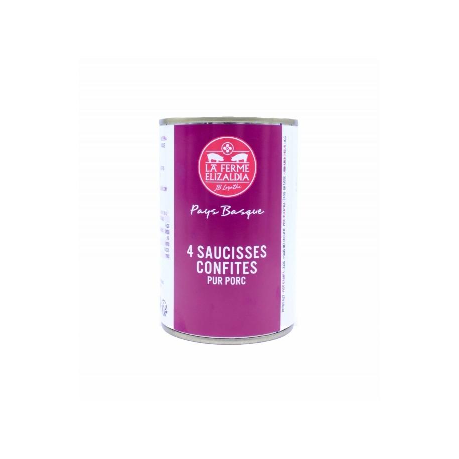 Saucisses Confites Boîte 330g