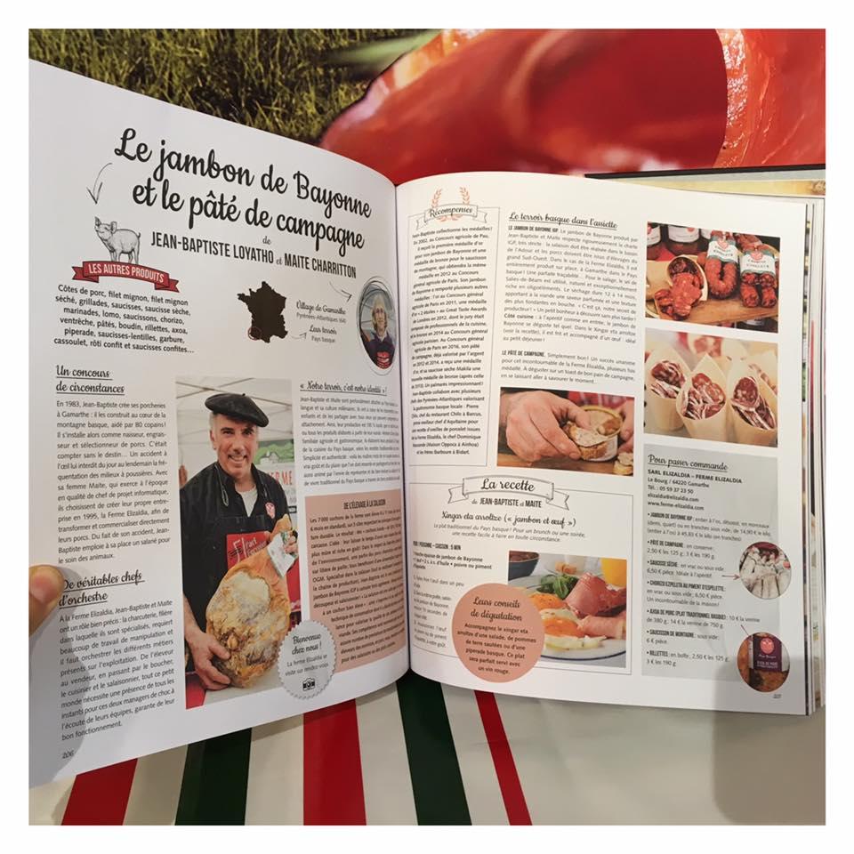 Livre la France Gourmande 100% terroir avec Pari Fermier - page Ferme Elizaldia