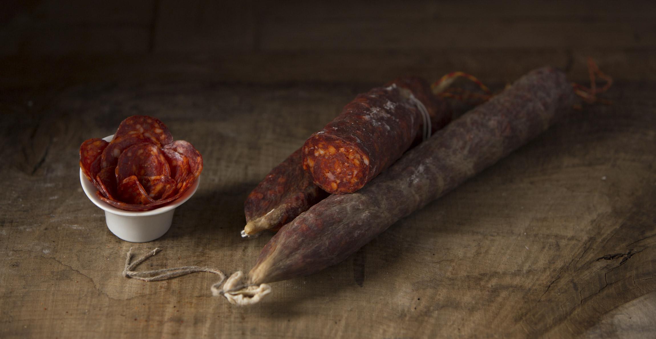 chorizo au piment d'Espelette tranché